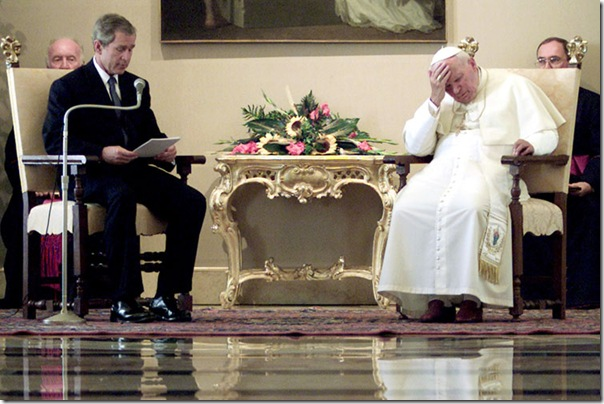 ITALY POPE BUSH